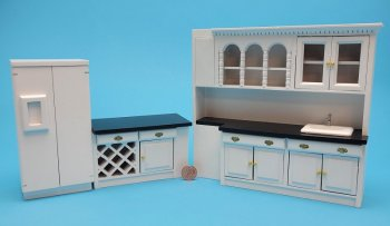 Kitchen Set 3 pc Black/White
