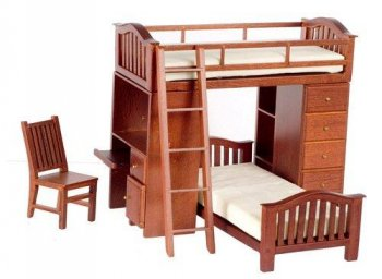 Bunk Bed Walnut Set