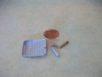 Dollhouse Miniature Paint Roller and Pan by Island Crafts and Miniatures