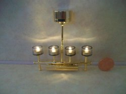 4-lite Battery Can Chandelier