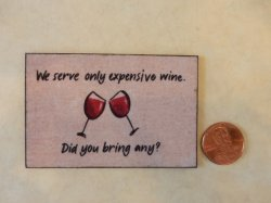 Expensive Wine Welcome Mat