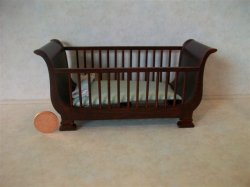 """Baby Bliss"" Crib - Blue"