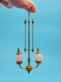 Two Light Vict. Gas Chandelier
