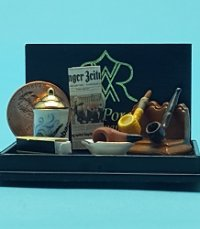 Gentleman's Pipe & Tabacco Set