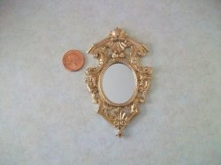 Mirror, Large, Oval, Gold Color