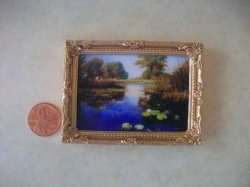 Picture in Frame, Pond w/Lily P