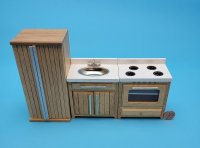 Oak Kitchen Appliance Set 3 pc