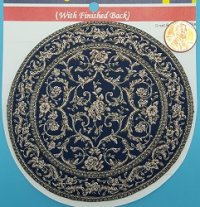 Small Round Rug - Black/Gold