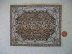 Leopard Print Center Rug - Medi