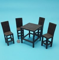 "5 pc Hi-top ""Wicker"" Dining Roo"