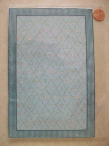 Lauren Trellis Blue Medium Rug