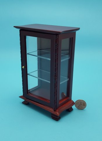 Mahogany Cabinet with Clear She