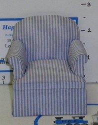 """Casual"" Easy Chair/Stripe Blu"