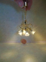 Curly 6-arm Battery Chandelier