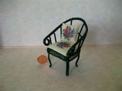 Garden Chair Green w/Cushion