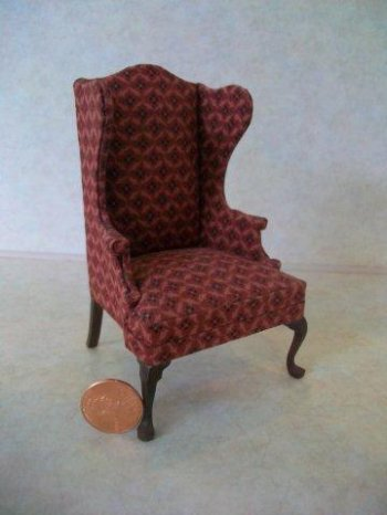 Bespaq Wing Chair - Rust Diamo