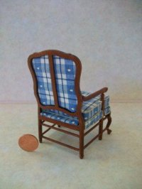 """Amise"" French Chair - Blue"