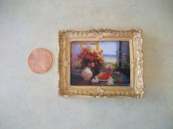 Picture & Frame, Red Florals in