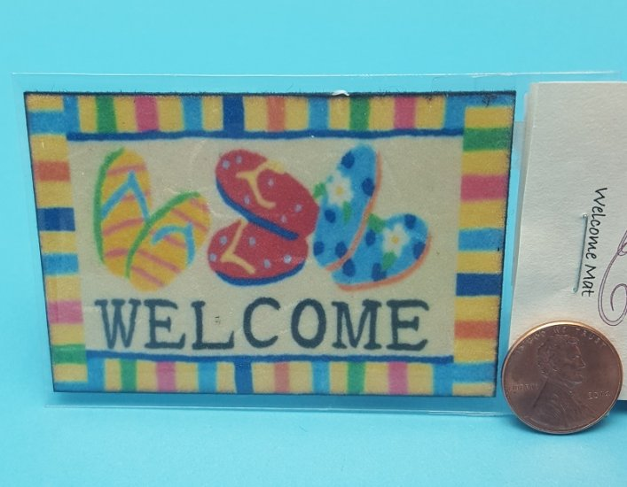 Flip Flop Welcome Mat - Click Image to Close