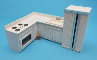 4 pc White Kitchen Set (E.S.)
