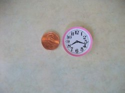 Clock with Pink Ring