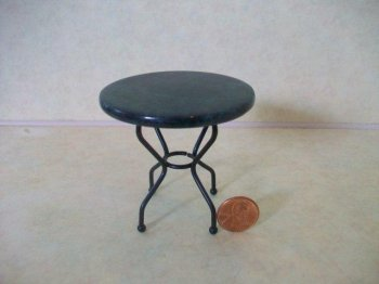 Round Marble Top Iron Table