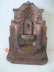 Water Fountain, Gray, Ancient