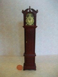 Grandfather Clock Mahogany