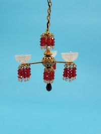 Red Crystal 3-arm Chandelier