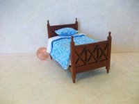 "Spice Single Bed 1/2"" Scale"