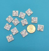 12 pc Blue Onion Tiles