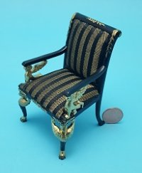 "Limited ""Empire"" Chair Blk/Gold"
