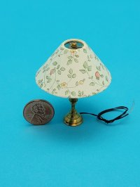 Lg Table Lamp Wide Floral Shade