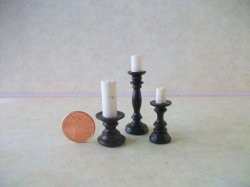 Resin Candleholders - 3 pc