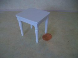 Shabby Chic White End Table