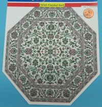 Large Oct. Green/Pink Rug