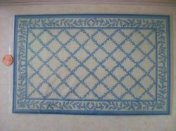 Country Trellis Blue Rug