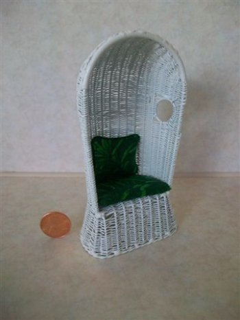 Basket Chair Dressed by S. Sha