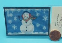 Snowman with flakes Welcome Mat
