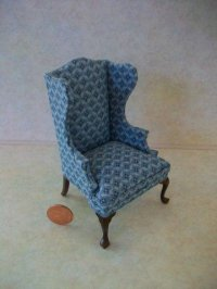 Bespaq Wing Chair - Blue Walnu