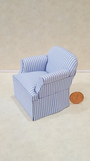 """Casual"" Easy Chair/Stripe Blu - Click Image to Close"