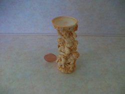 Angel Bird Bath, Ivory