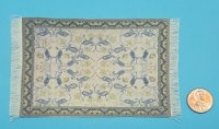 Rug 1616S Green w/blue vine