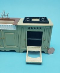 4 pc Green Kitchen Set