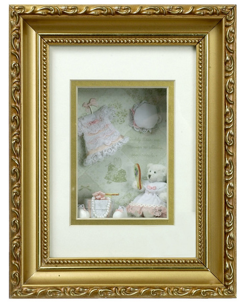 Bear w/Clothing Shadow Box - Click Image to Close