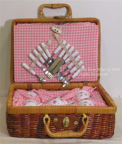 Butterfly Teaset Basket - Click Image to Close