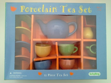 Multi Color Teaset - Click Image to Close