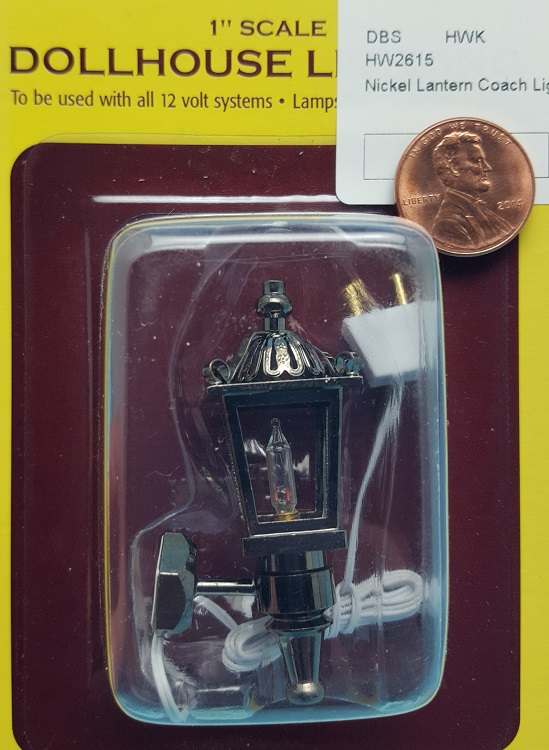 Nickel Lantern Coach Light