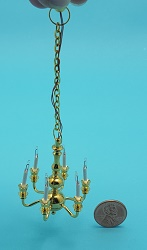 Small 6-Arm Chandelier
