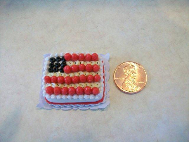 Flag Sheet Cake of Fresh Fruit